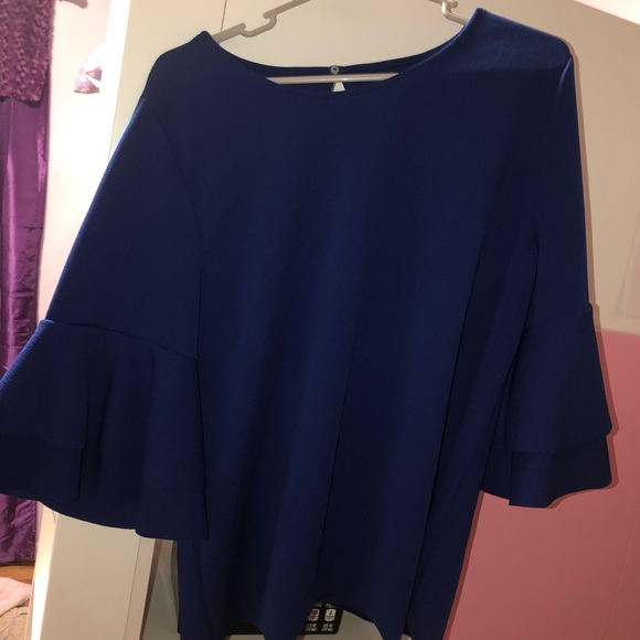 Lane Bryant Tops - Lane Bryant Blue Big Sleeved Shirt